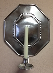 Octagonal Wall Sconce, Pewter Imperfect
