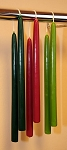 12  x 7/8 Inch Colored Beeswax Taper Candles