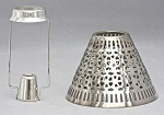Cassidy Candle Shade with Carrier, Silver