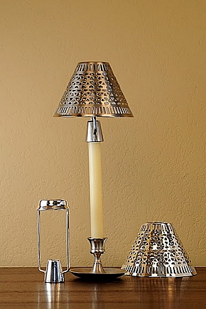 Cassidy Candle Shade With Carrier Pewter