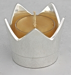 Crown Series Tealight, Silver Finish