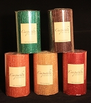 "100% Hand Rolled Beeswax Glitter Candles, 3x5"" Pillar"
