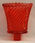 Pegged Swirl Votive Glass, Red Imperfect
