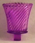 Pegged Swirl Votive Glass, Purple