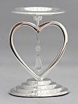Heart Unity Pillar Holder in Silver