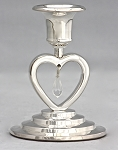 Heart Unity Candle Holder in Silver