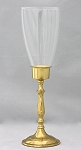 Wellington Hurricane Candlestick, Brass