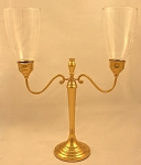 Heritage Hurricane Candelabra, Brass Imperfect