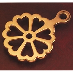 Colonial Heart Trivet, Brass