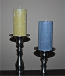 "100% Beeswax Glitter Candles, 2x4"" Pillar"