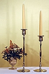 Hutchinson Slim Candlestick in Nickel, 10-1/2