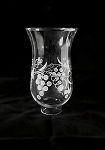 Vintage Grape Etched Hurricane Glass