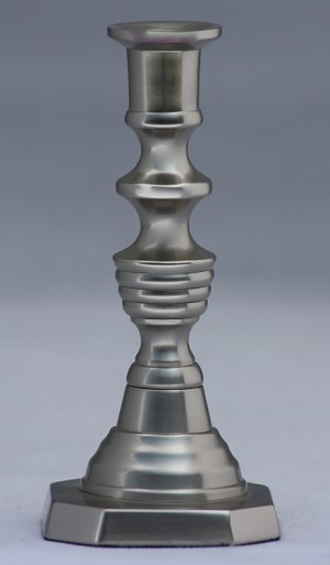 Urn Tiny Taper Holder, Pewter Imperfect