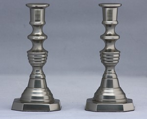 Urn Thin Taper Holder Set, Pewter