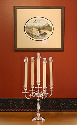 Five Arm Silver Candelabra, Imperfect