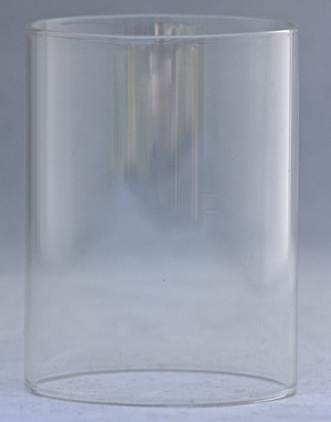 Clear Glass Cylinder Shade, 3 x 4""