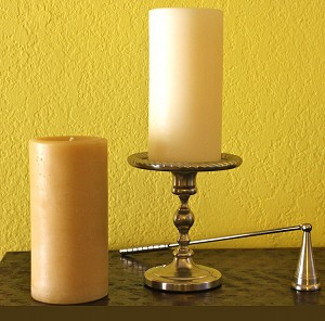 3x6 100% Beeswax Pillar Candle