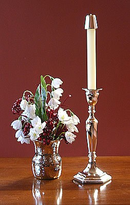 "Princess Candlestick, 9-3/4"", Imperfect"