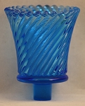 Pegged Swirl Votive Glass, Blue