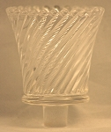 Pegged Swirl Votive Glass, Clear
