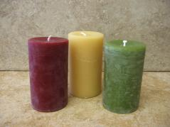 2x3 Inch Beeswax Pillar Candles