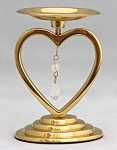 Heart Unity Pillar Holder in Brass