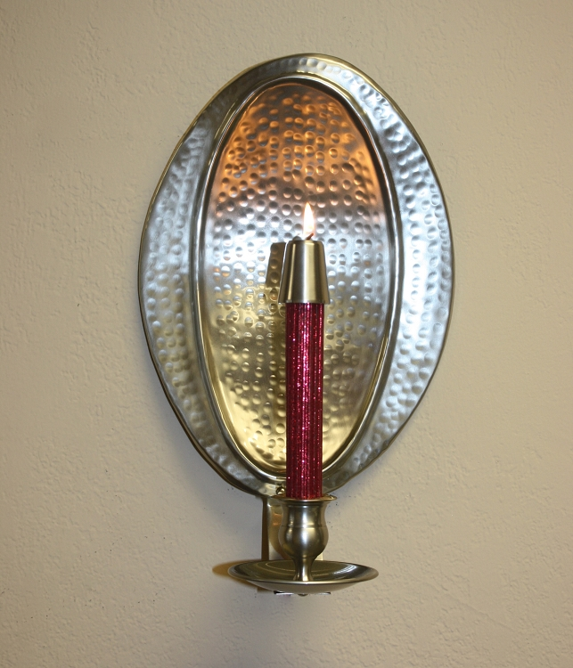 Aria Hammered Wall Sconce in Pewter