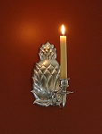 Pineapple Wall Sconce, Pewter