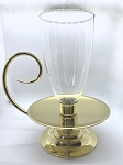 Vintage Baldwin Brass Old Harbor Hurricane Lamp with Glass