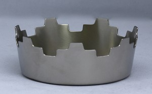 Royal Pillar Candle Holder in Pewter