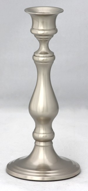 Tidewater Candlestick, Medium Pewter