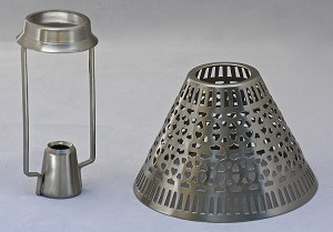 Cassidy Candle Shade with Carrier, Pewter