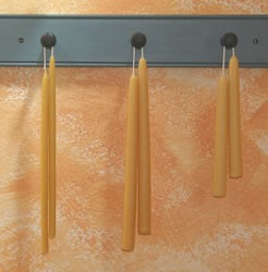1/2 Inch Beeswax Tapersticks, Thin