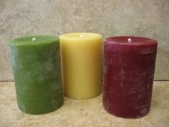 3x4 Inch Beeswax Pillar Candles