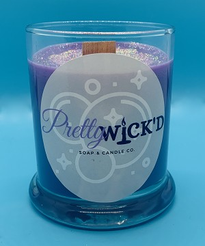 Pretty Wick'd Frosted Berry Jar Candle
