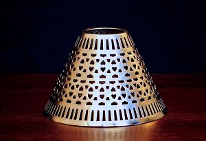 Cassidy Candle Shade, Pewter