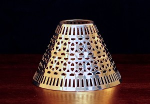 Cassidy Candle Shade, Silver