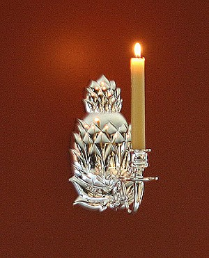 Pineapple Wall Sconce, Silver